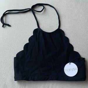 COPY - Marysia Swim Mott top scalloped bikini bla…